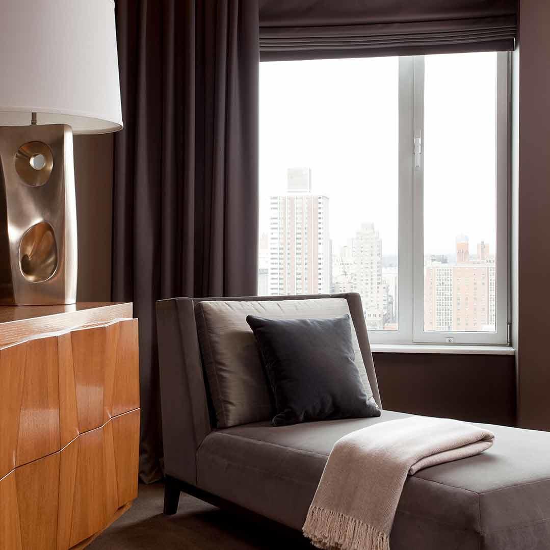 Masculine home office interior design by NYC's interior design firm Darci Hether New York