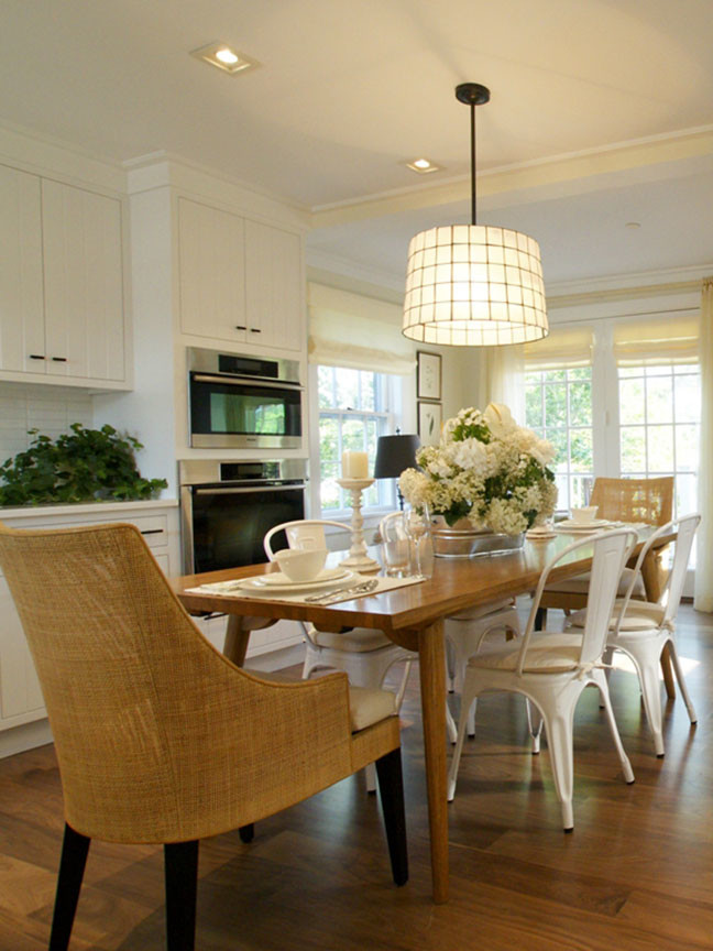 Open-concept, transitional style home interior design by New York's top designer Darci Hether