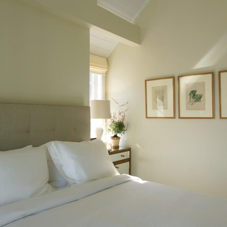 Bedroom interior design by Darci Hether in a Nantucket residence