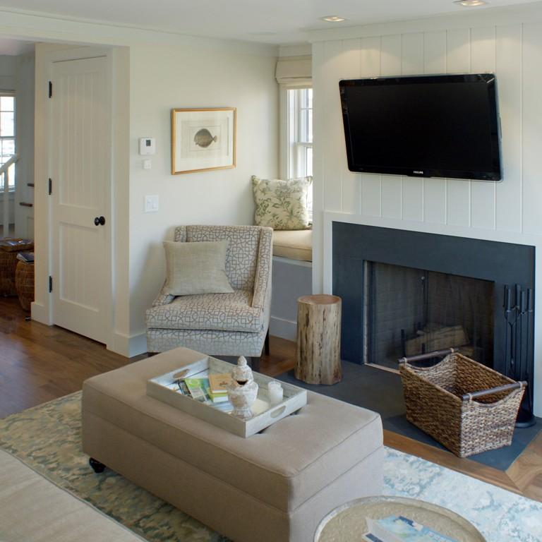 Living room interior design by Darci Hether in Nantucket