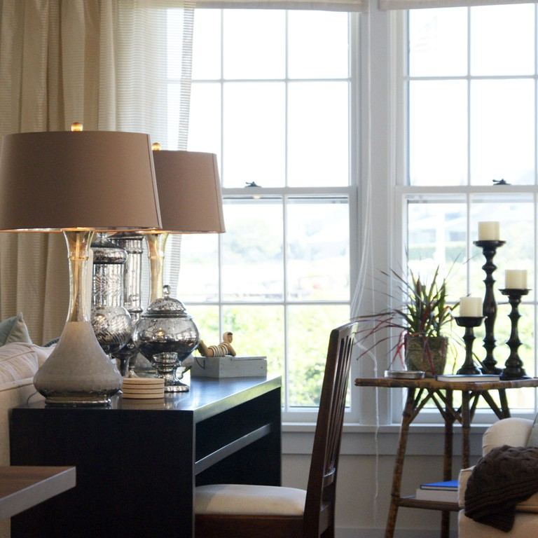 Nantucket living room interior design by NYC's top interior design firm Darci Hether New York