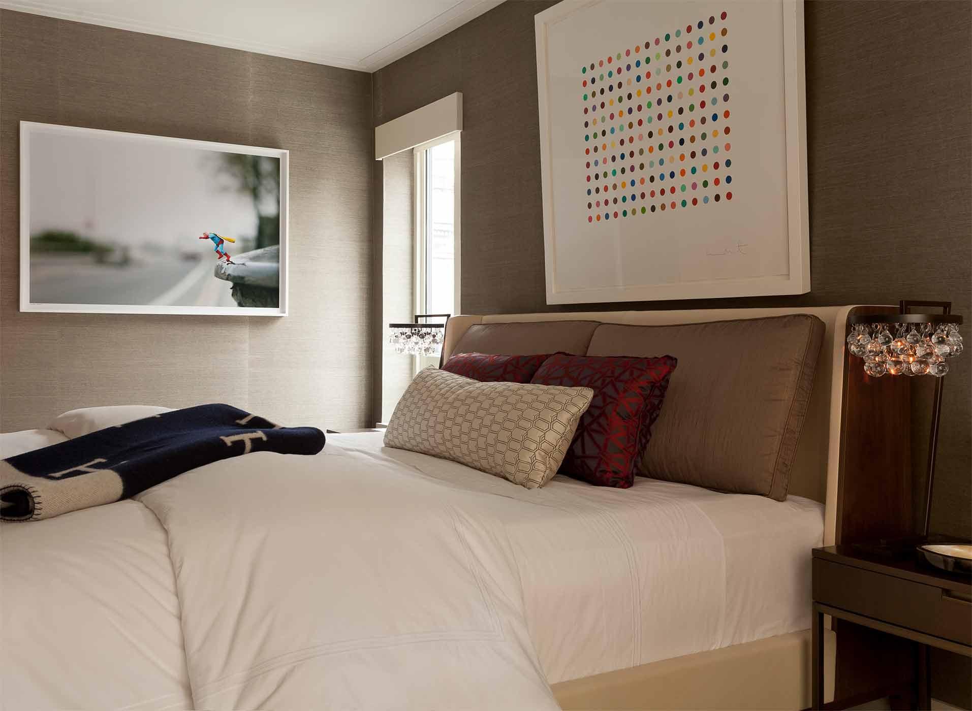 Master suite interior design by NYC's top interior design firm Darci Hether New York