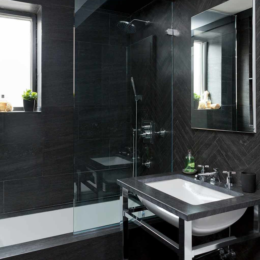 Guest bathroom renovation in NYC apartment by Darci Hether New York