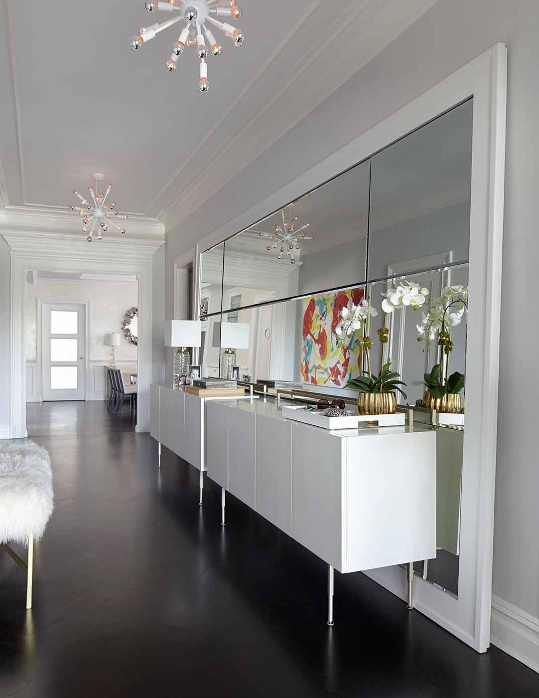 Foyer Sputnic Lights Leaning Floor Mirror