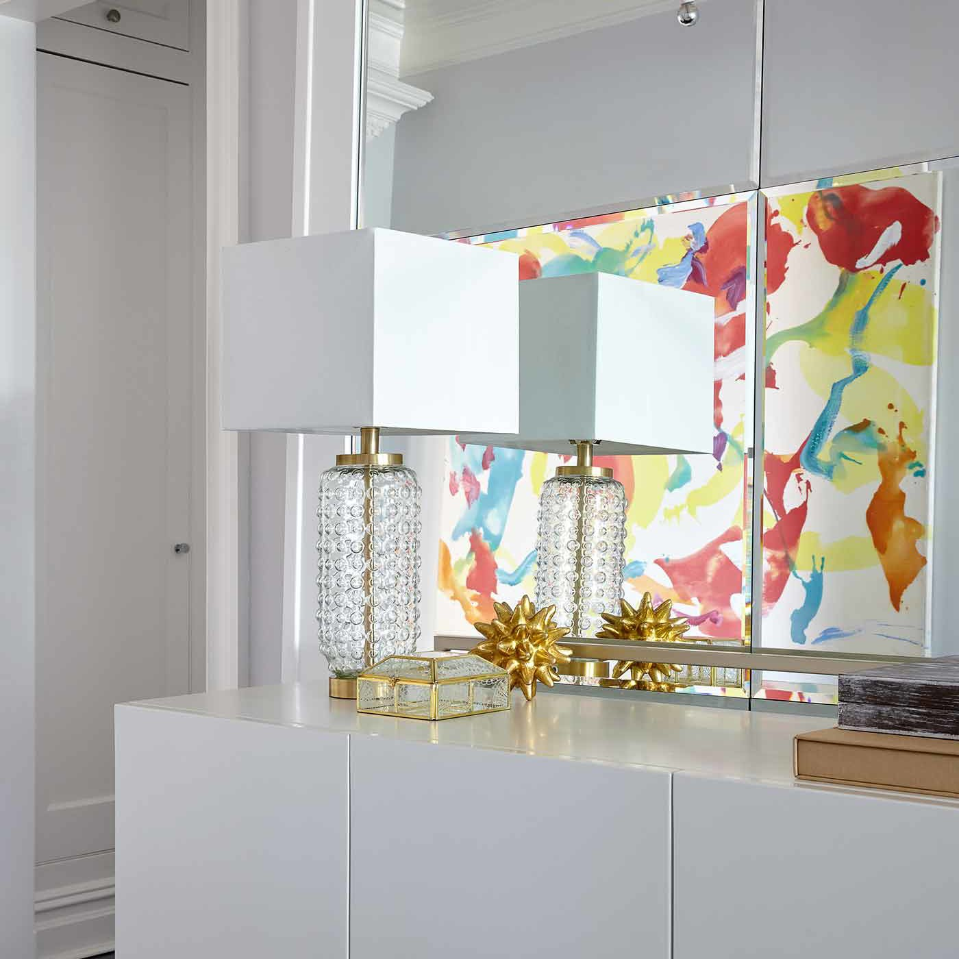 Foyer area decor in a NYC interior design project by Darci Hether New York