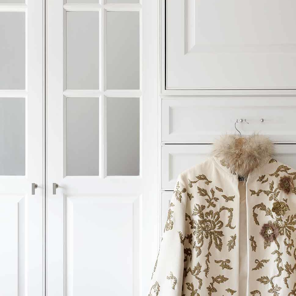 Custom built-in closet in a NYC apartment by Darci Hether New York