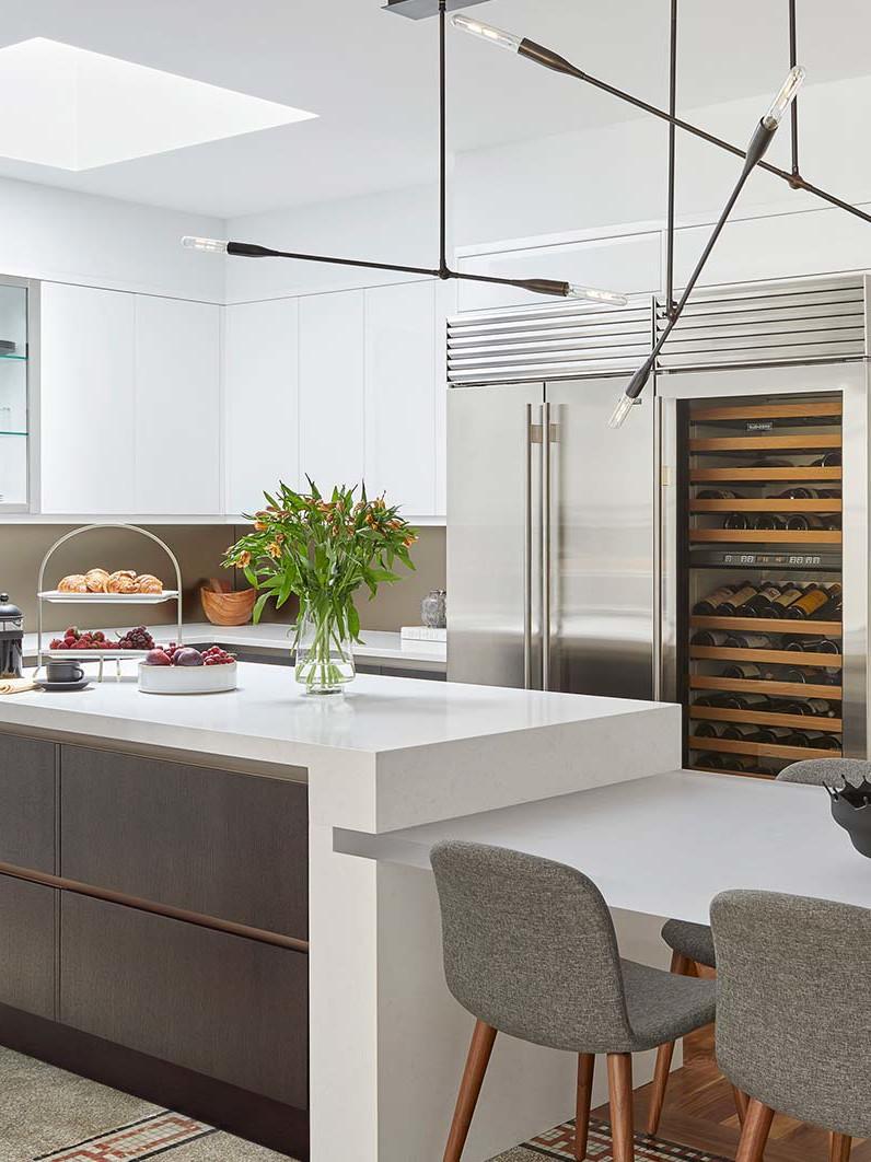 Pre-war Tribeca apartment interior renovation by Darci Hether New York