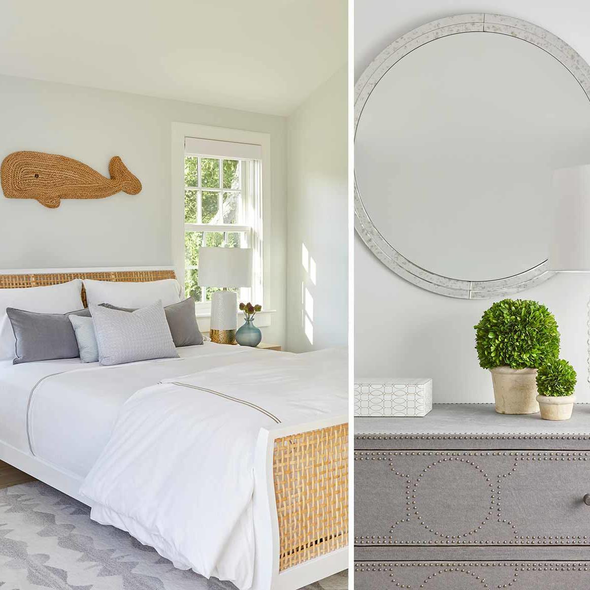 Coastal master bedroom design by Darci Hether New York