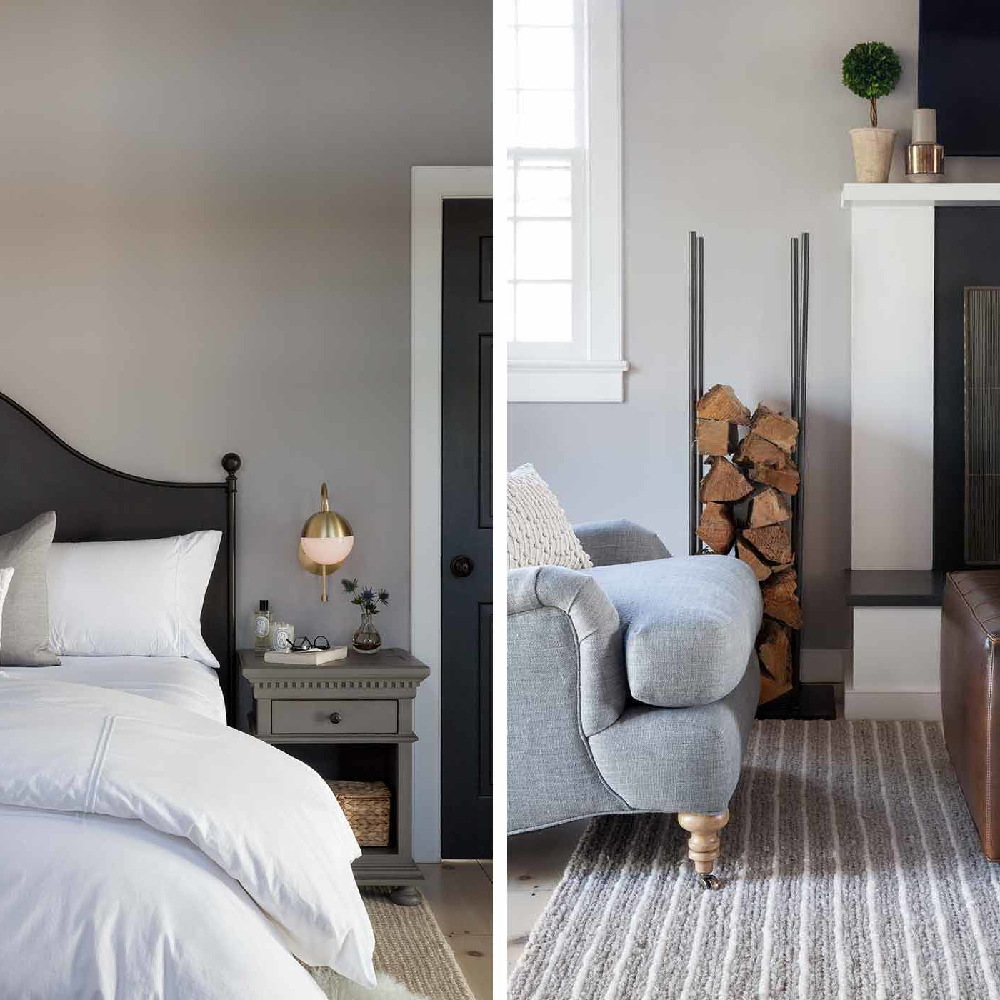 Bridgehampton beach house bedroom interior design