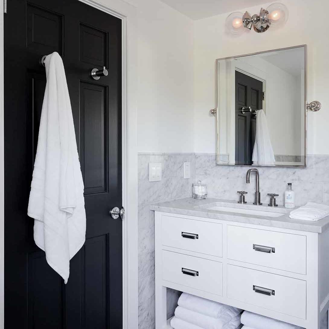 Bathroom interior design in a Bridgehampton family beach house