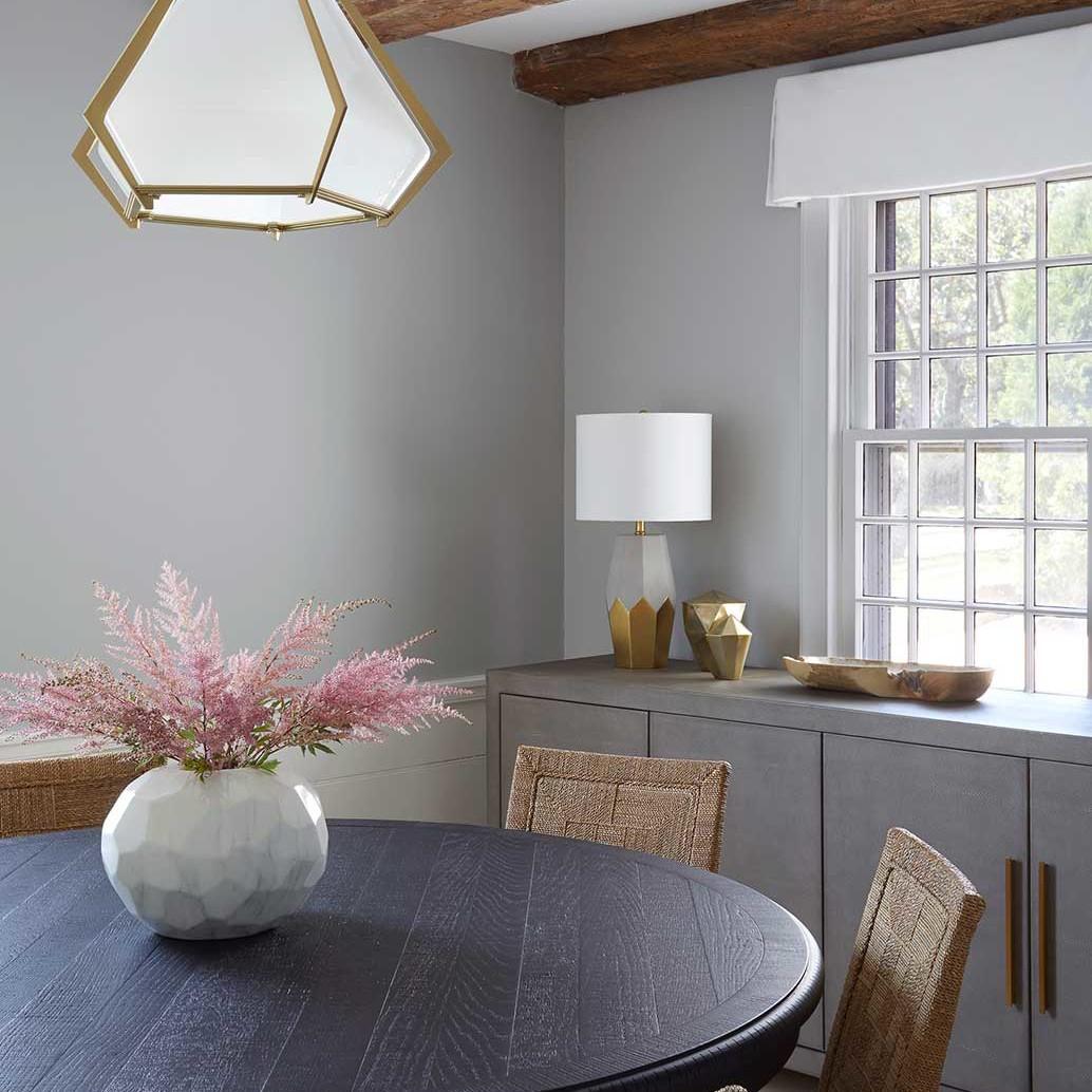 Dining room interior design in a Bridgehampton family home by Darci Hether New York