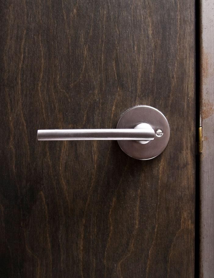 striped-metal door fram