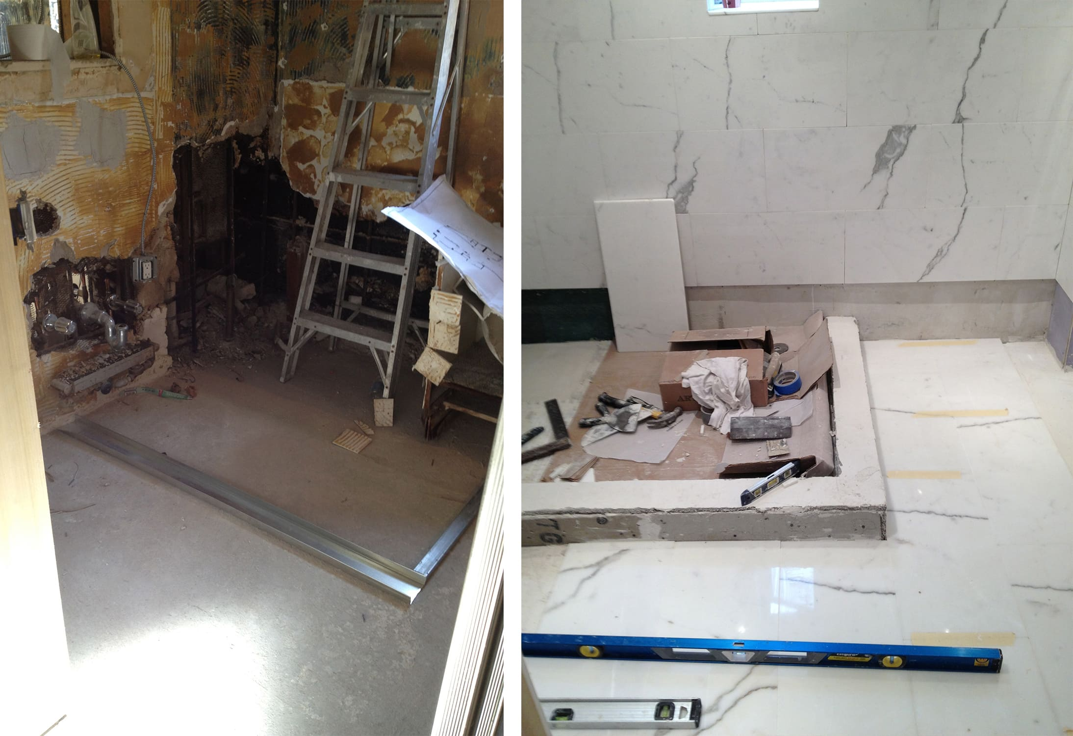 Before And After The Ugliest Bathroom Of My Career Darci Hether - Bathroom expansion before and after