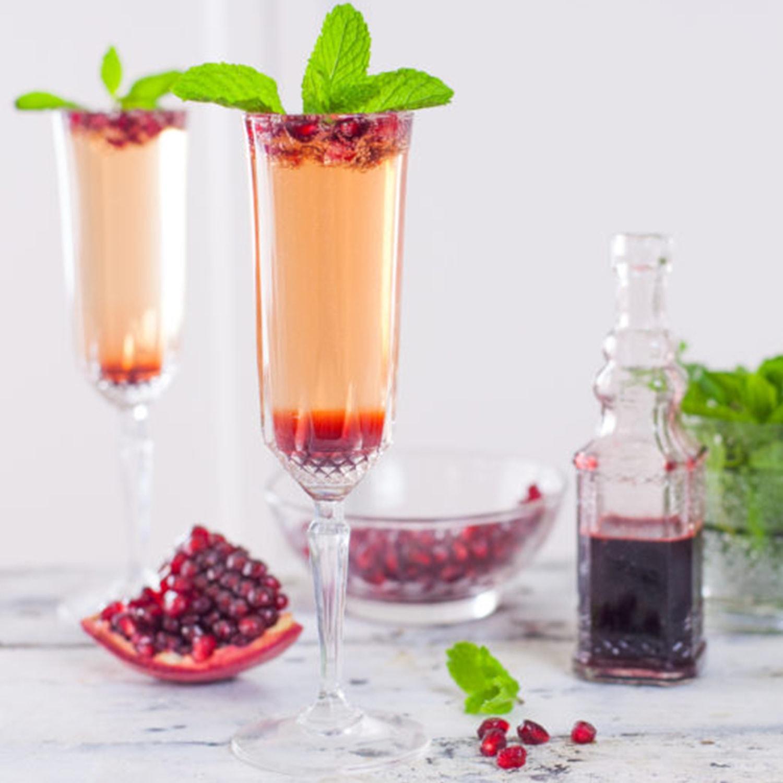 pomegranate mint champagne