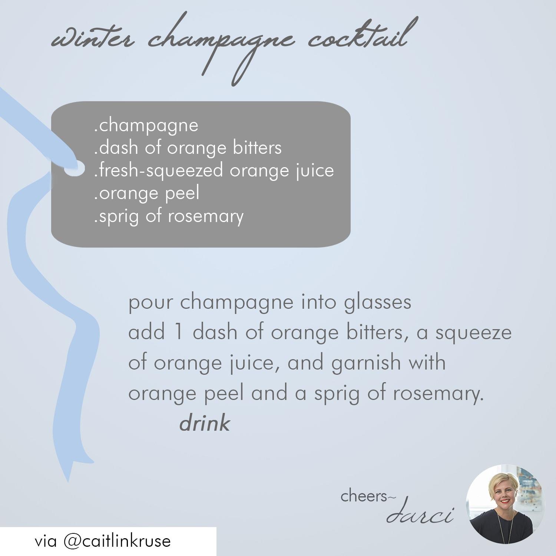 winter champagne cocktail recipe