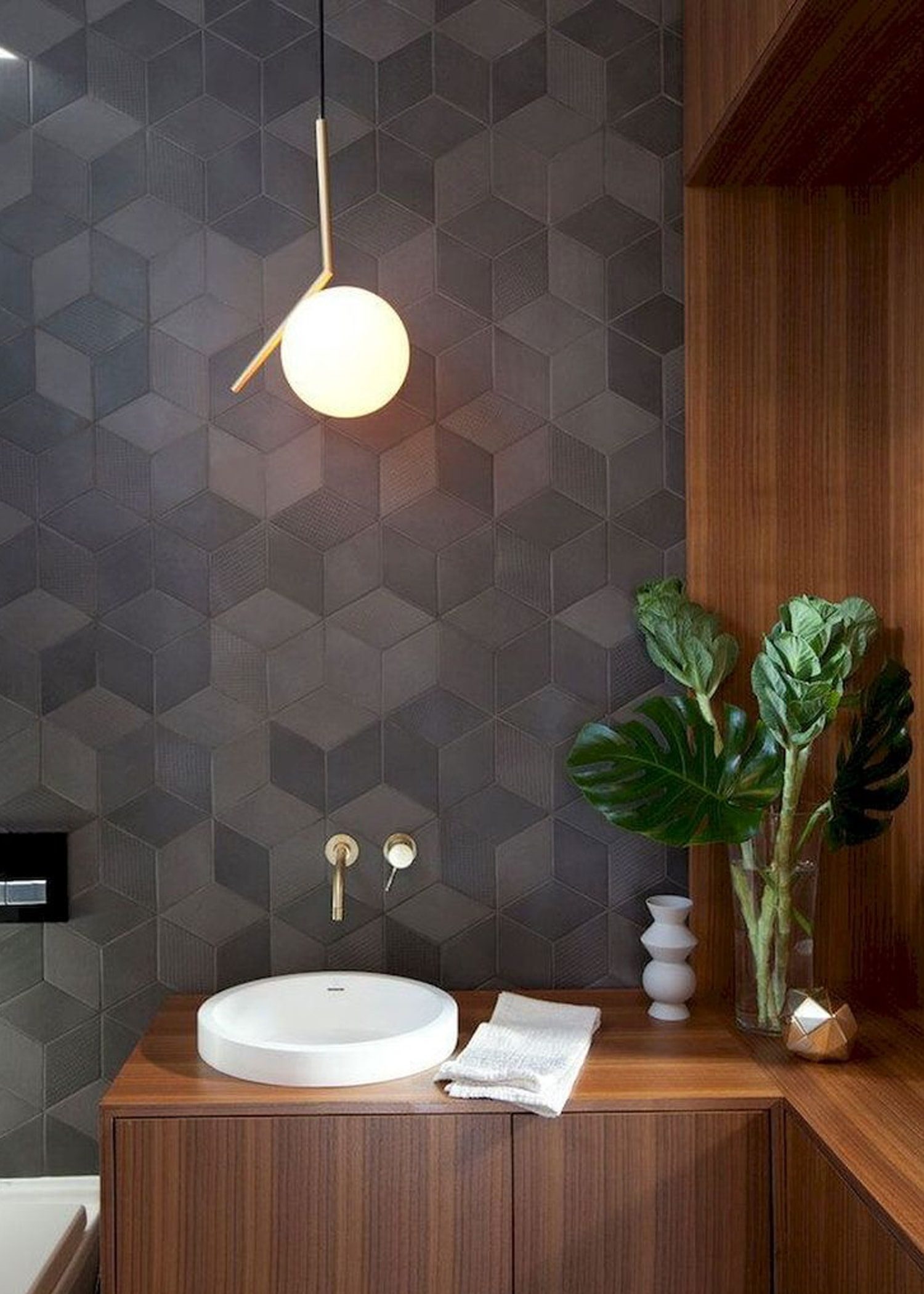 grey diamond geometric tile