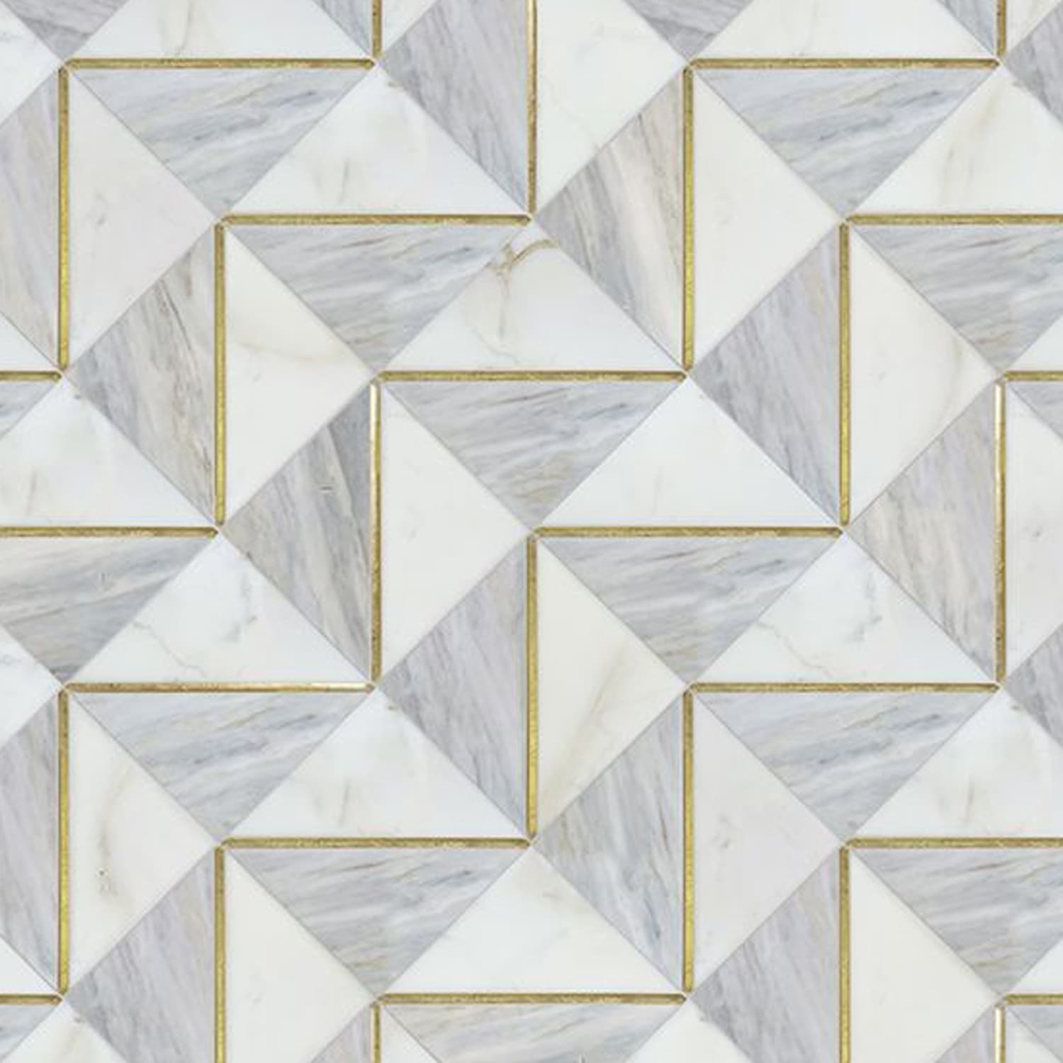 blue marble and brass inlay mosaic tile