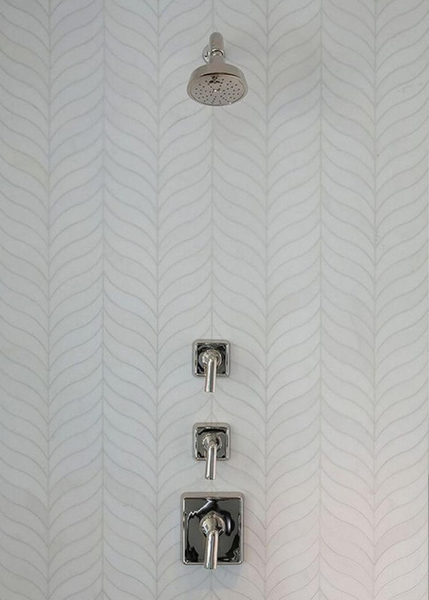 chevron organic mosaic tile