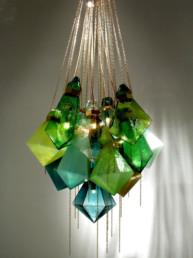 Frida Fjellman chandelier acid green