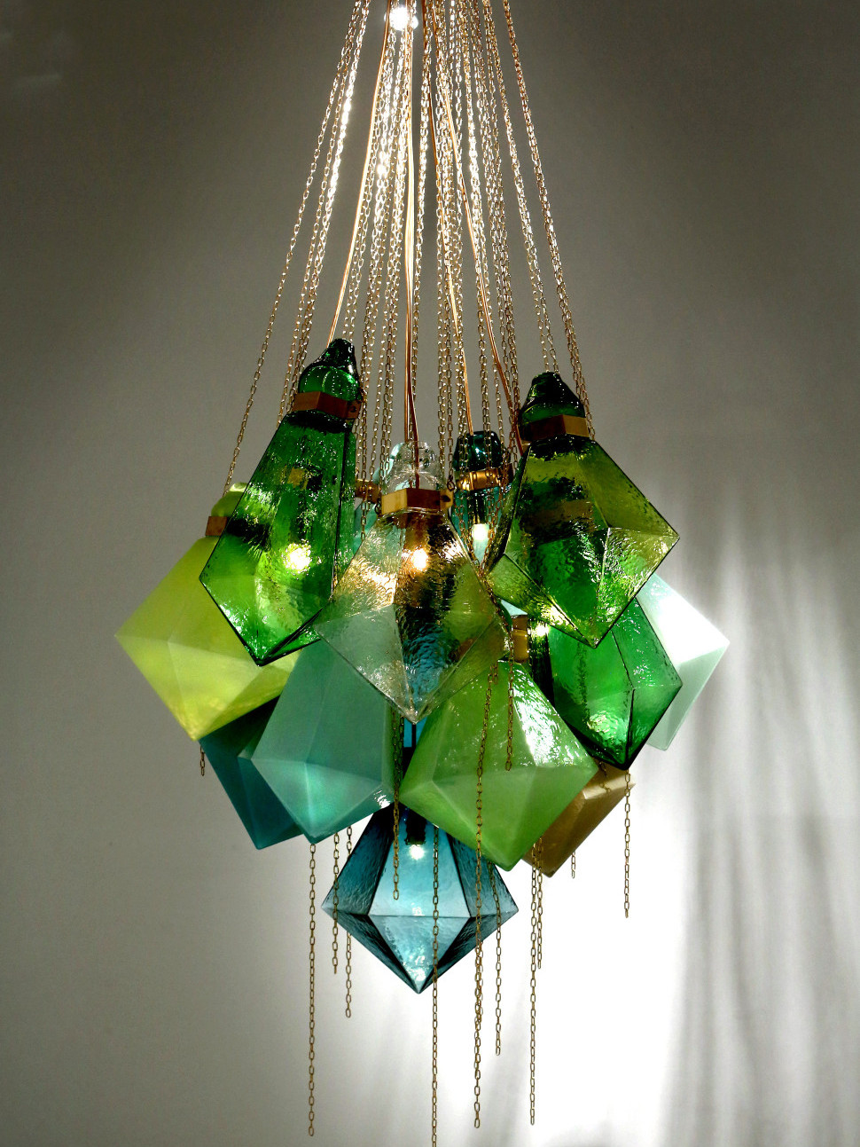 Frida Fjellman chandelier acid green