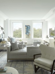 mixed metal luxe transitional sitting room