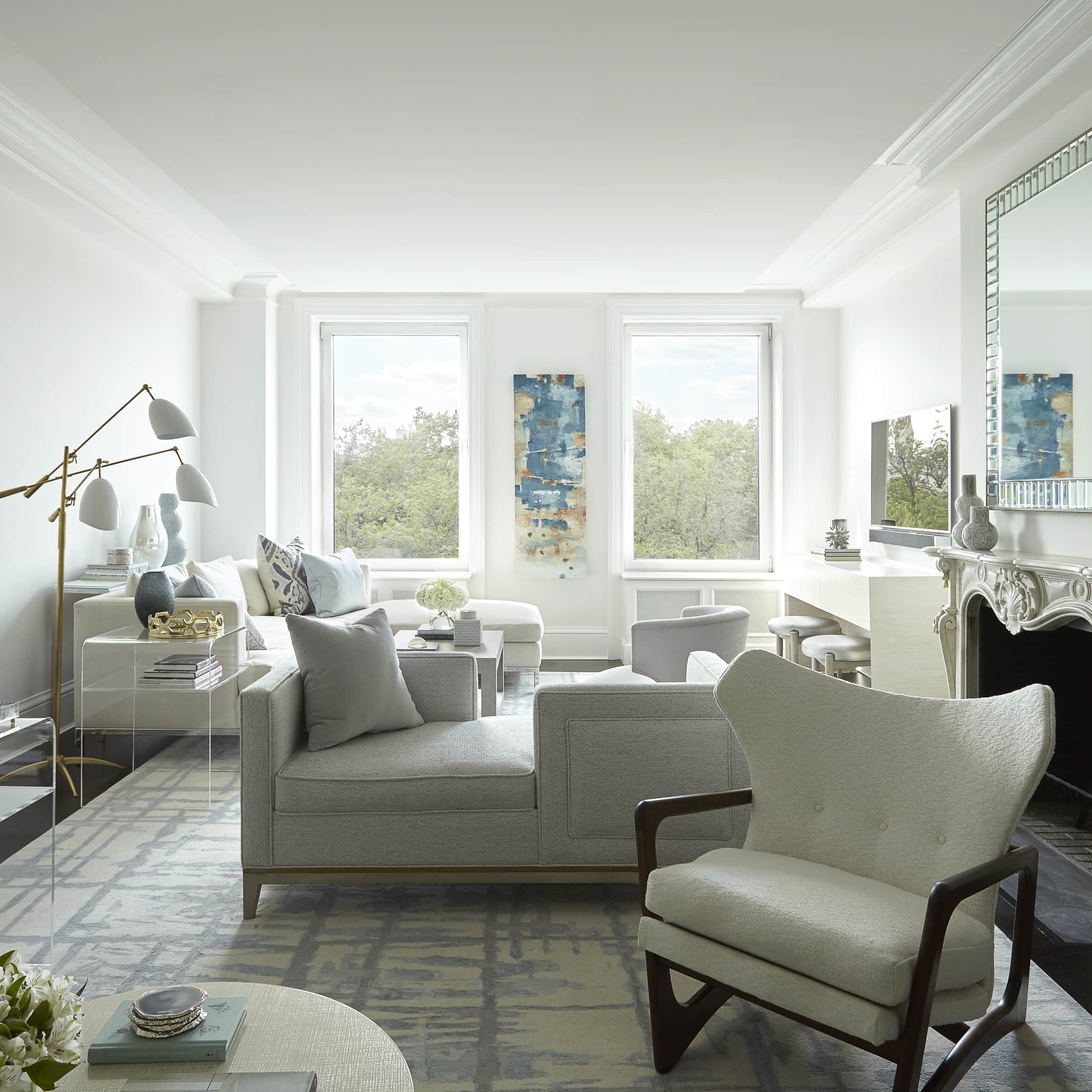 Mixed metals in the living room – Blog by Darci Hether New York