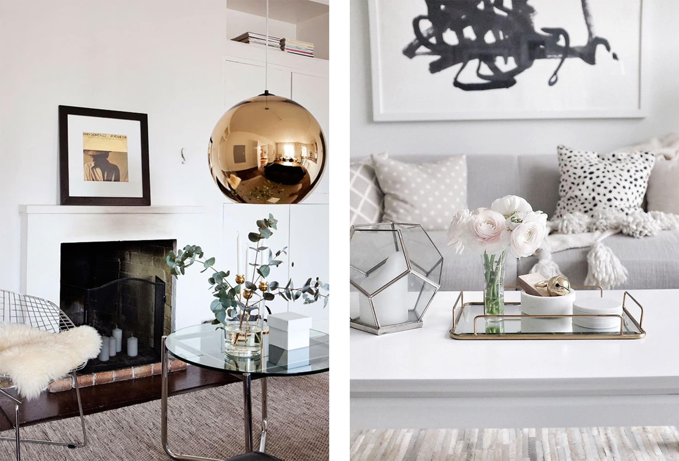 mixed metals... in the living room - darci hether