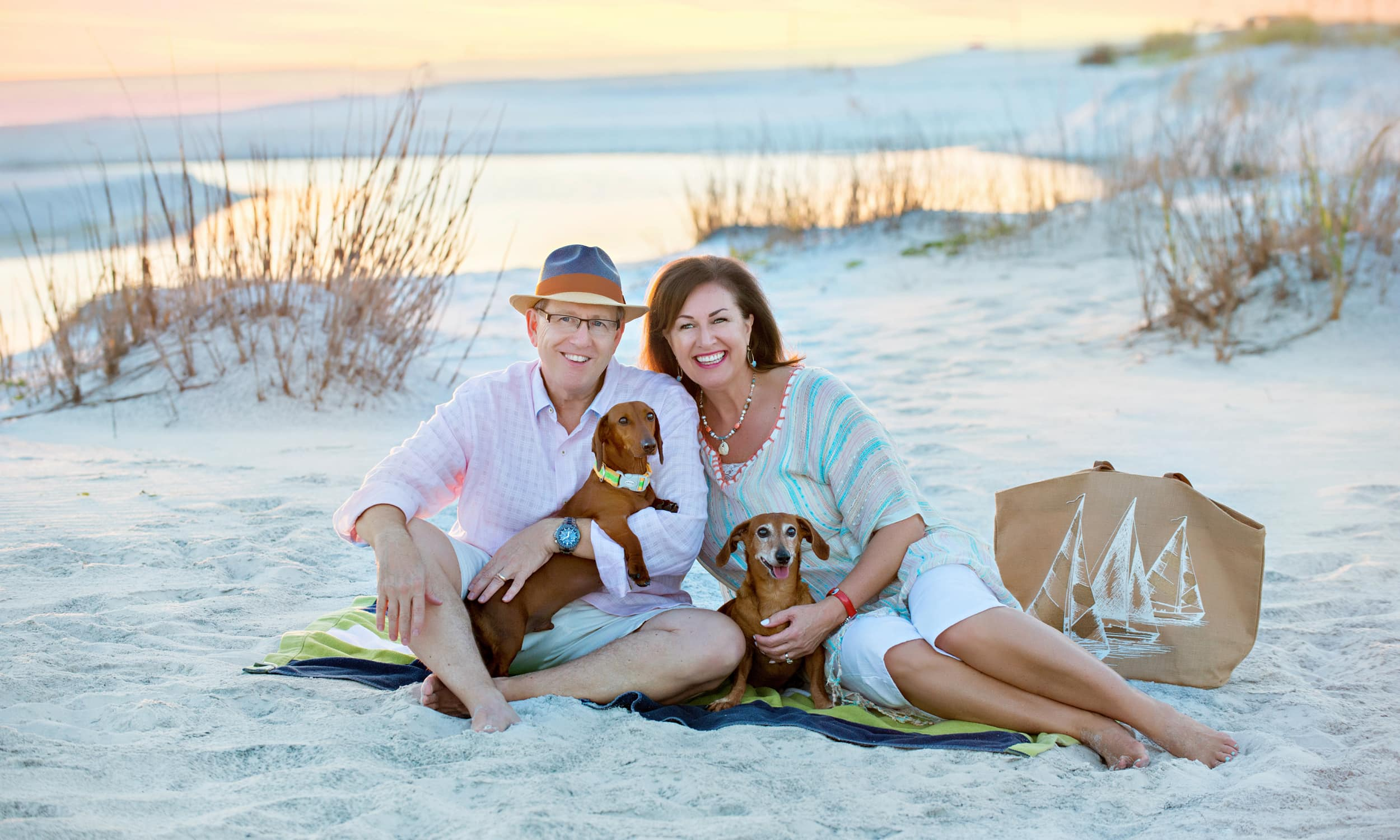 our happy clients and their adorable dachshunds