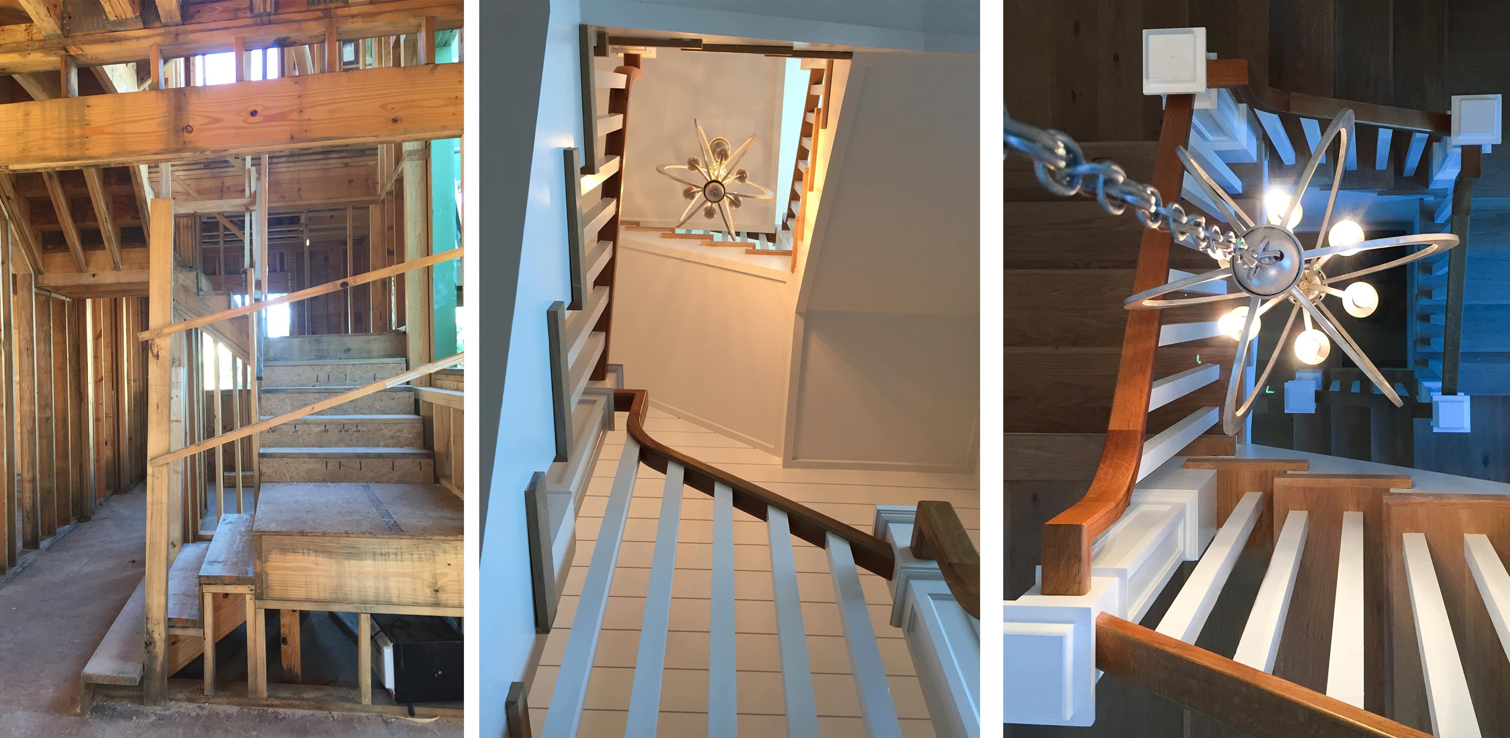 stairwell construction at the watersound beach property - darci hether new york