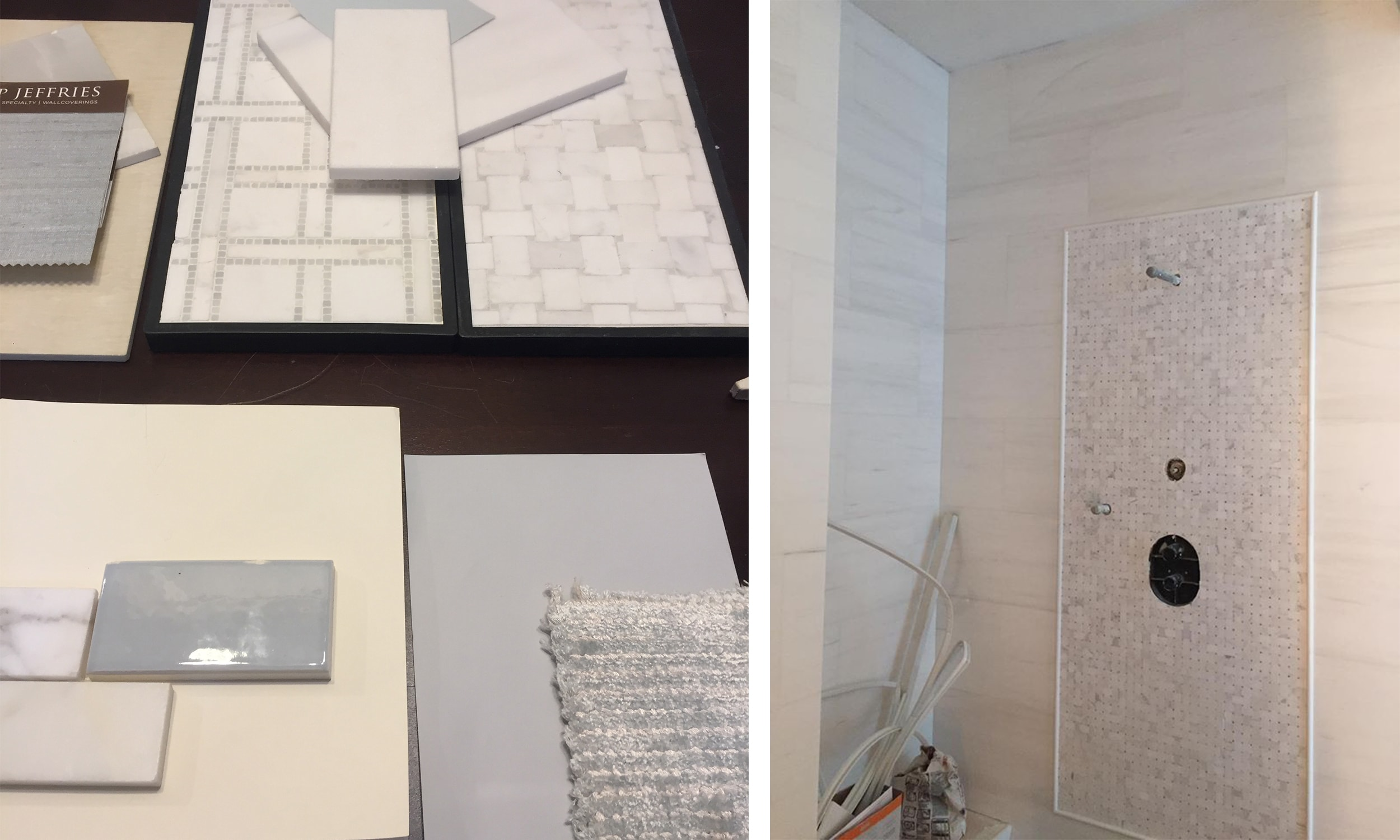 watersound beach master bathroom swatching process - darci hether new york