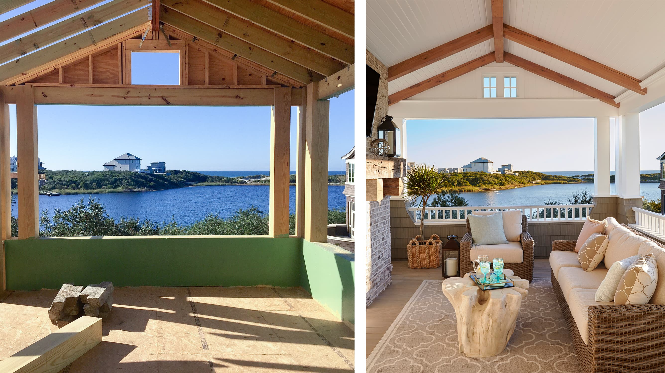 watersound beach before after indoor outdoor living - darci hether new york