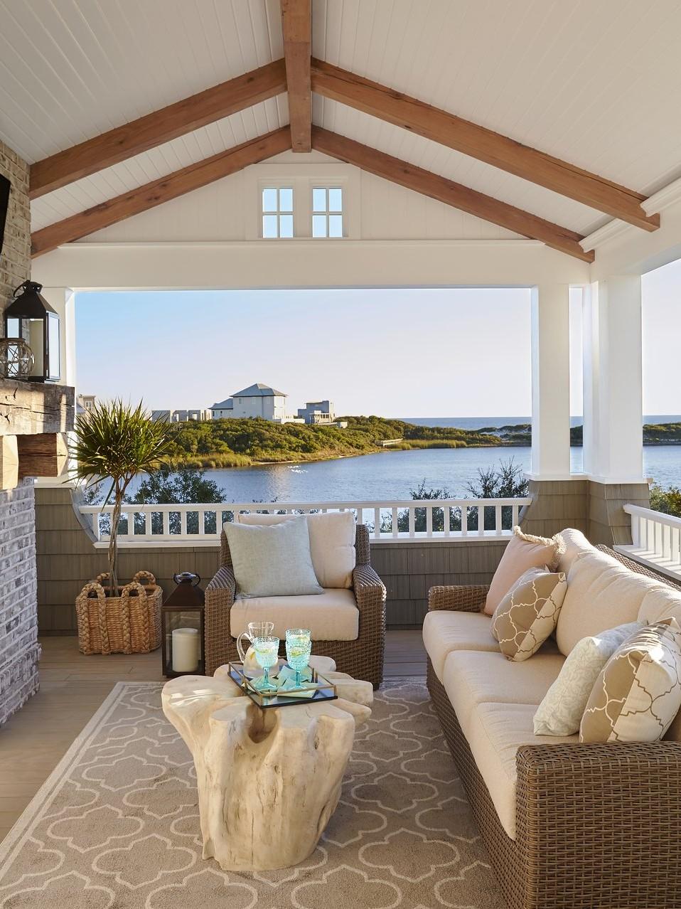 beachfront patio in this florida panhandle beach house - darci hether new york