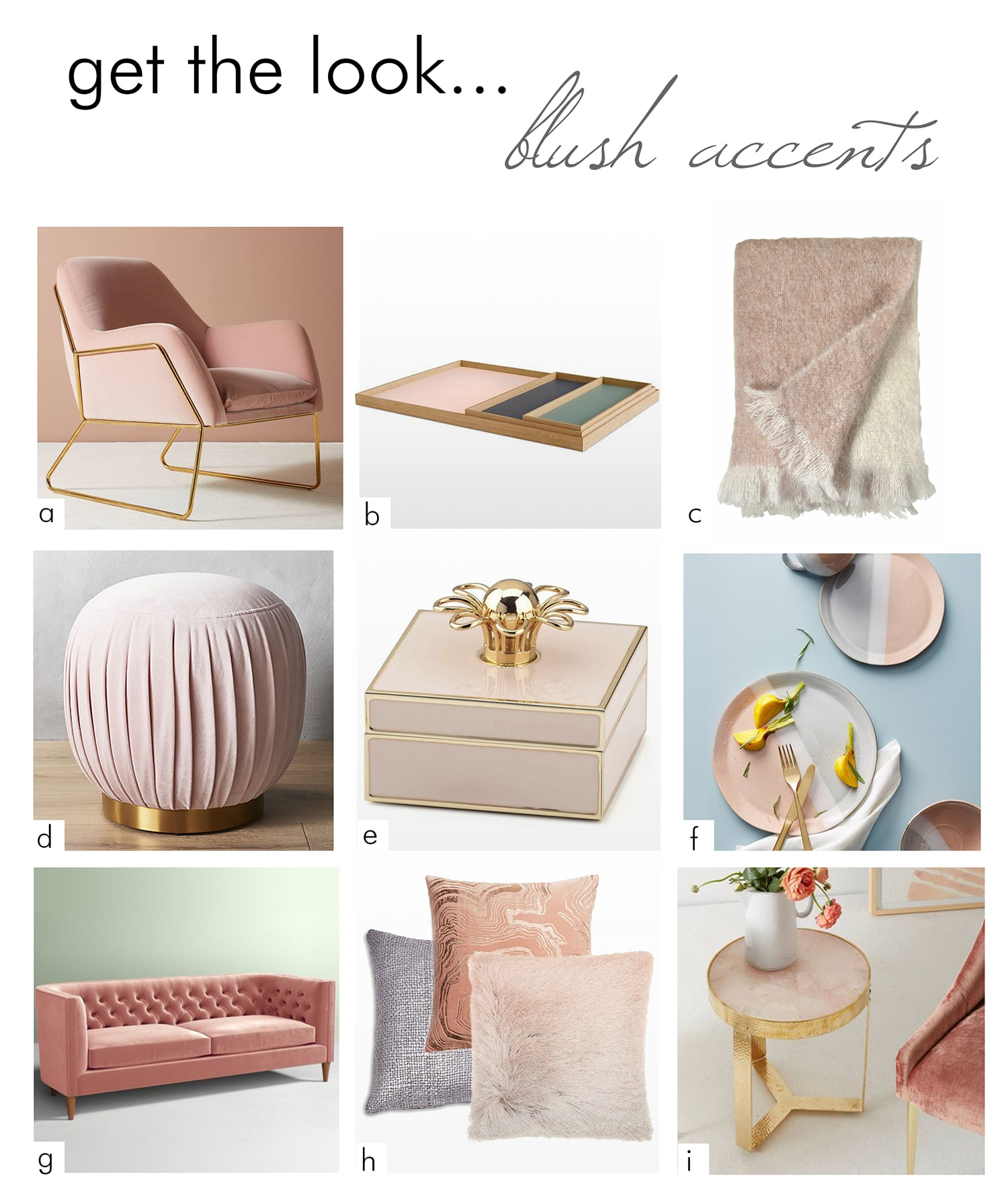 blush shopping list