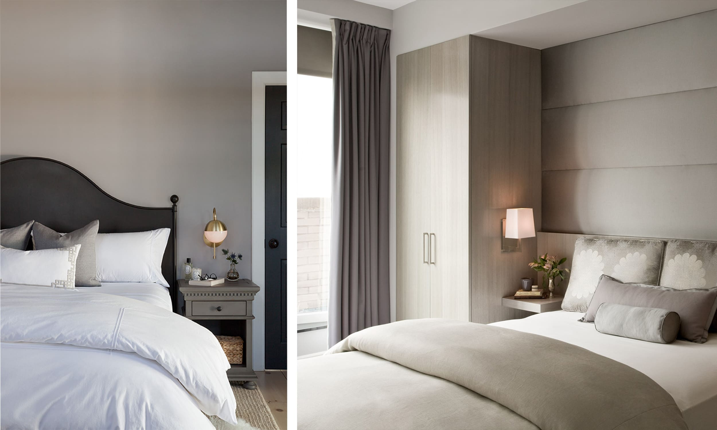 neutral color palettes in the bedroom