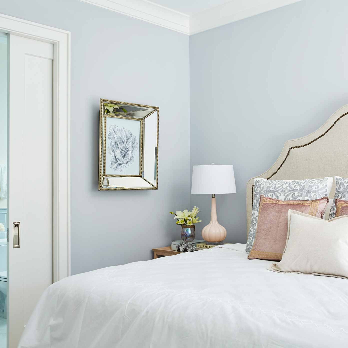 Beach style guest room interior design by Darci Hether New York