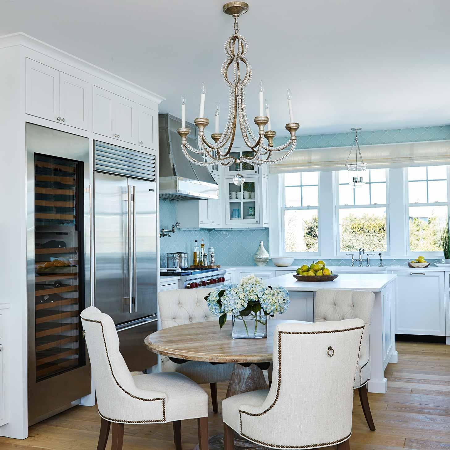 Coastal dining room interior design by Darci Hether New York in Watersound beach