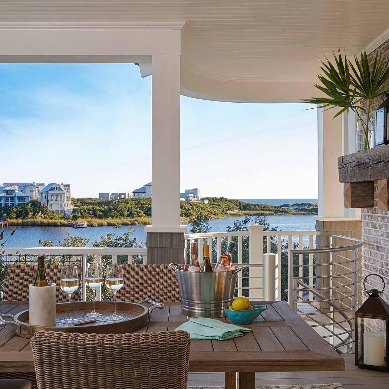 Beach house patio design by Darci Hether New York in Watersound beach