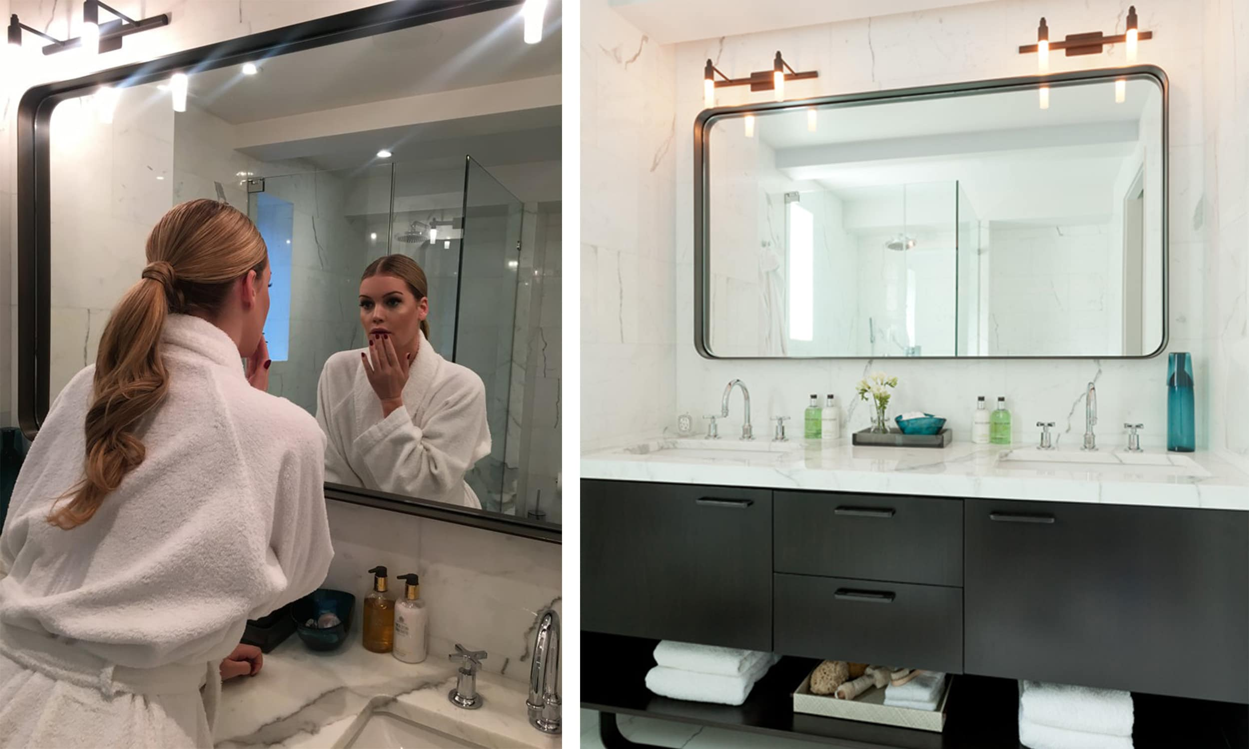 lady kitty spencer in the bathroom of my park ave project