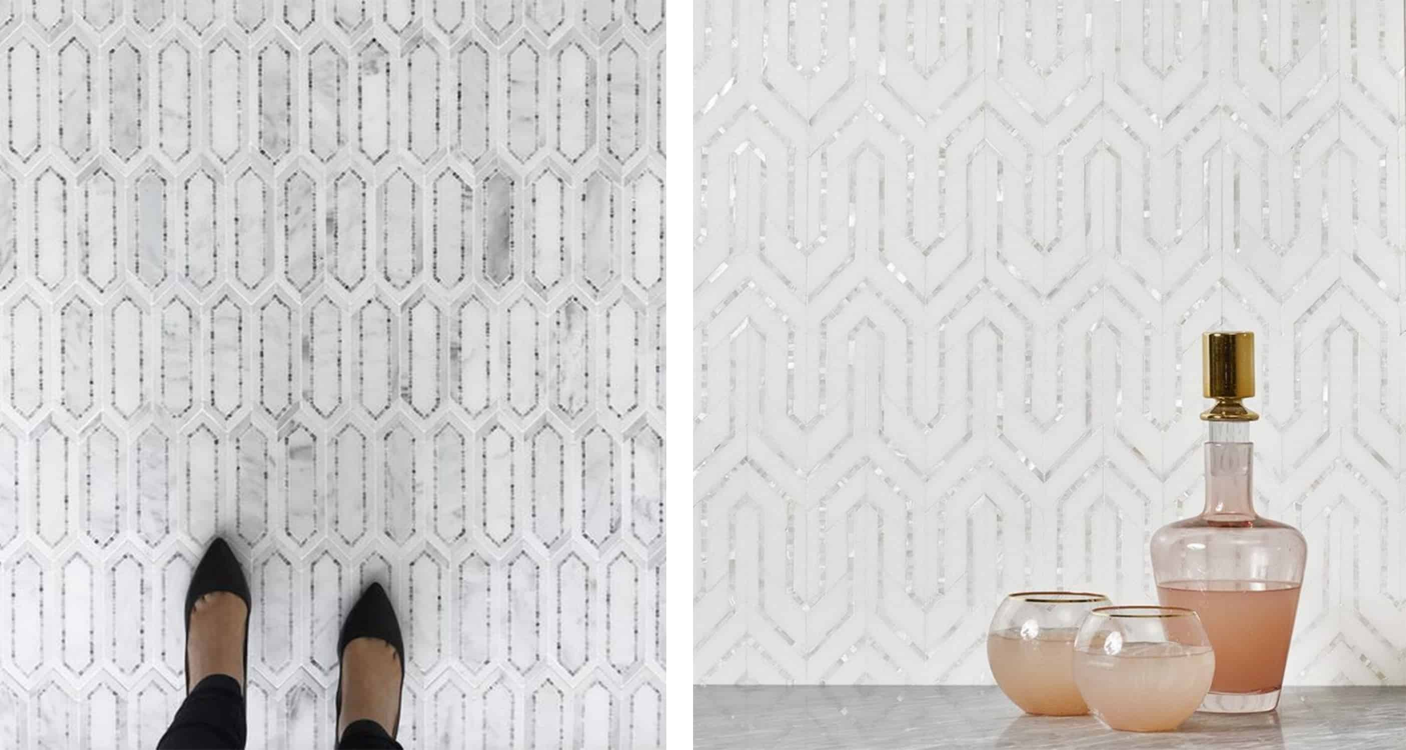 akdo white mosaic tile - tile trends - darci hether new york