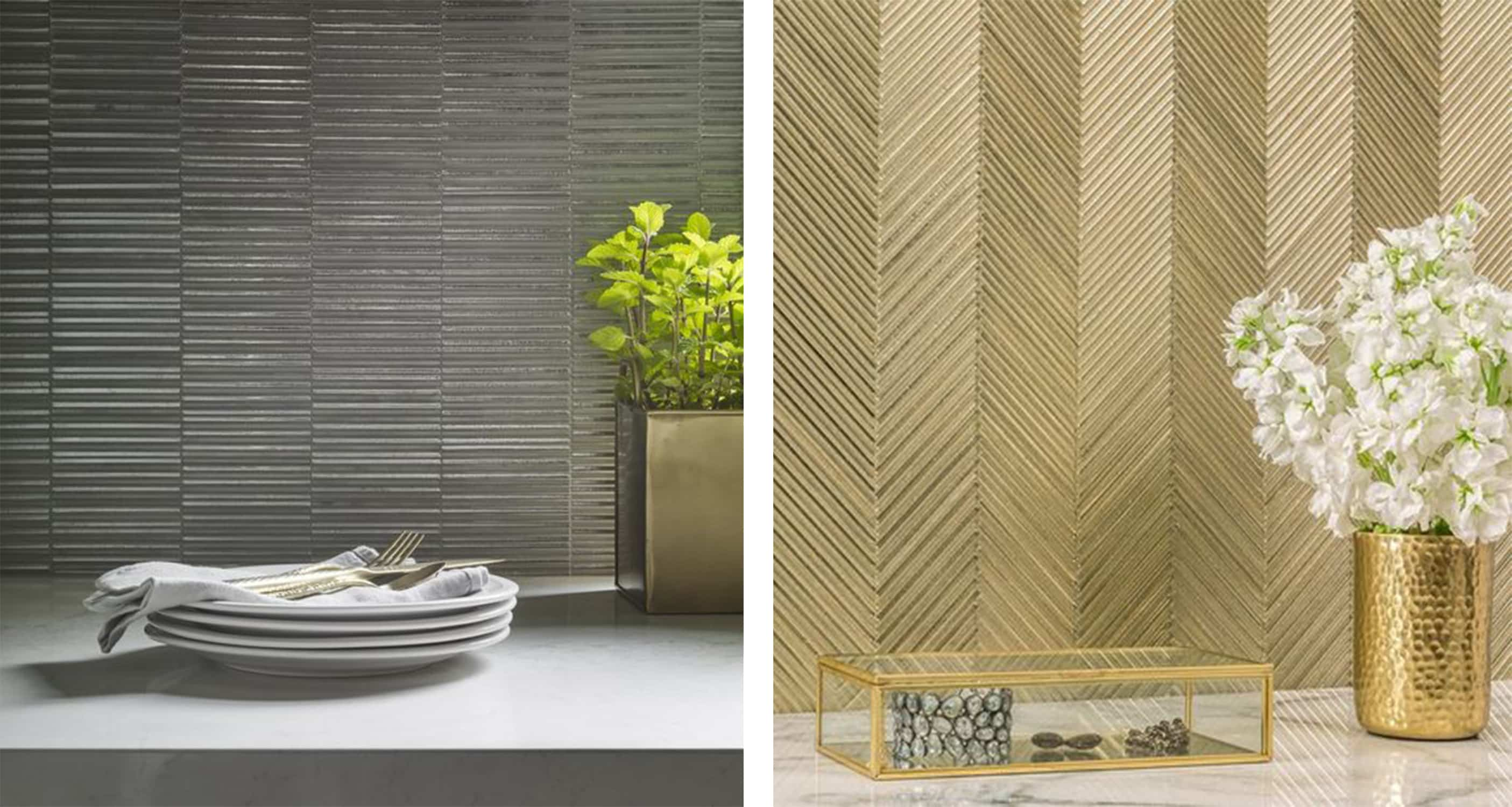 tile trend - textile glass - skinny glass tile - darci hether new york