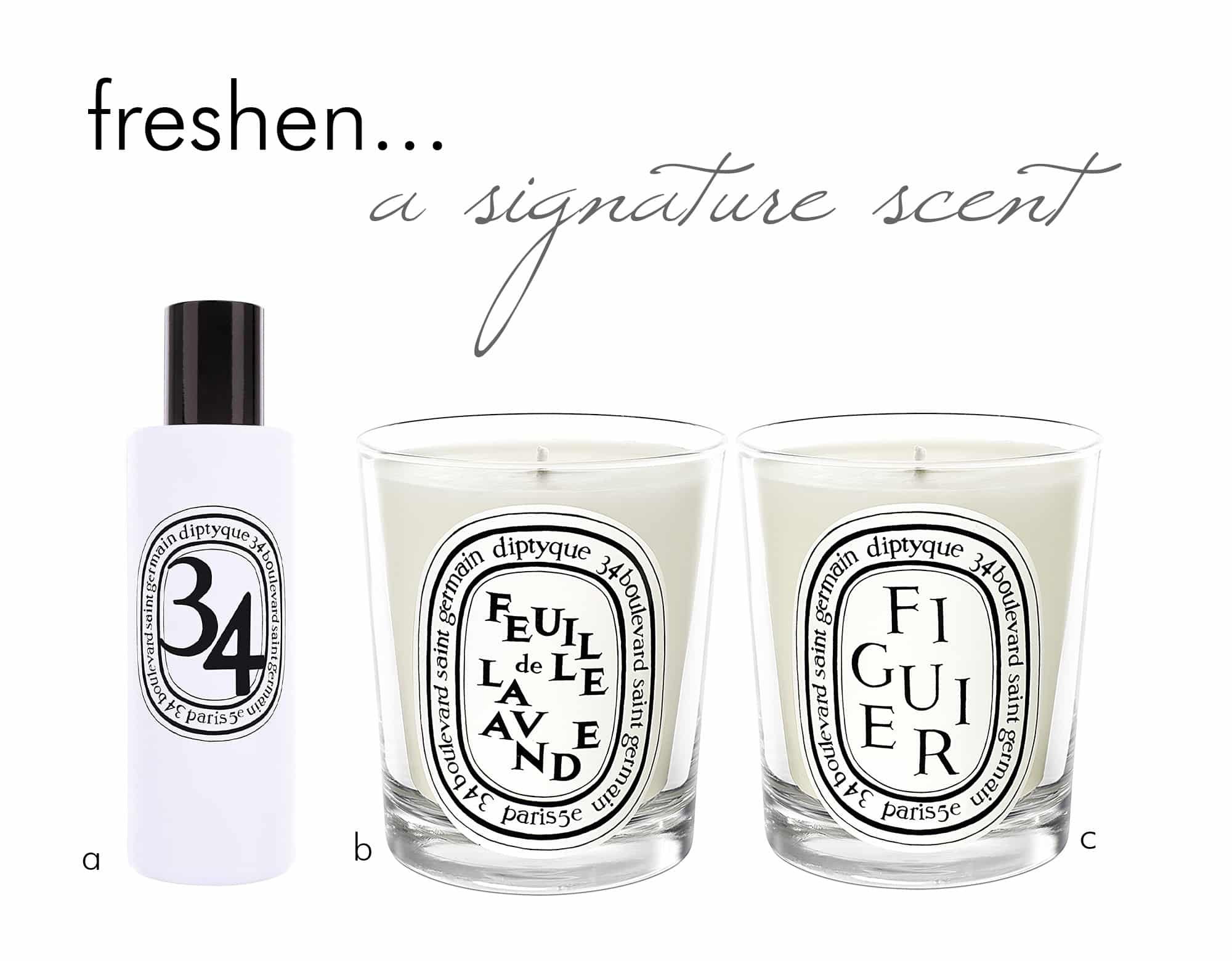 pick a signature scent for your home - diptyque candles and room sprays - darci hether new york