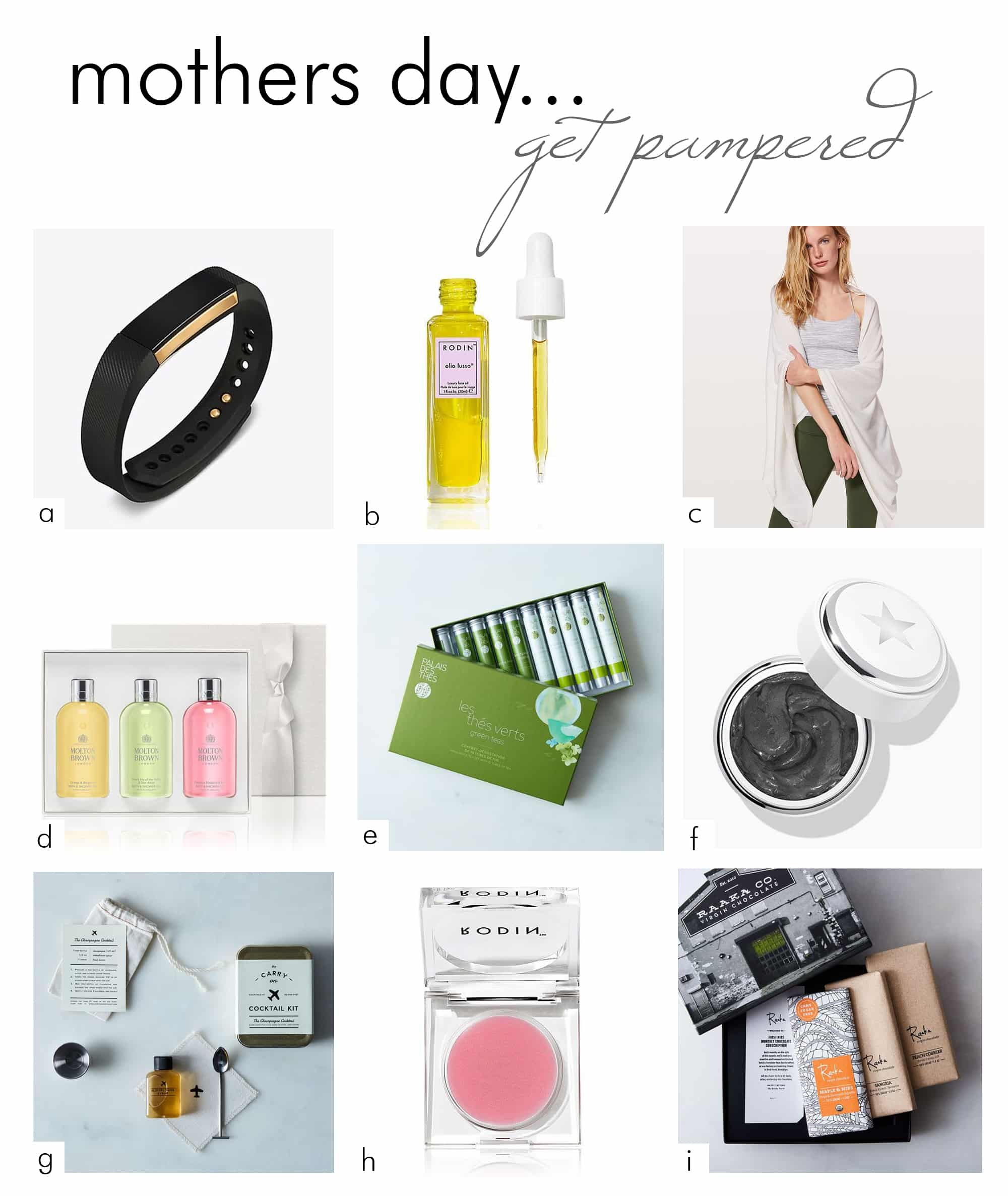 mothers day shopping gift guide - gifts to pamper mom - darci hether new york