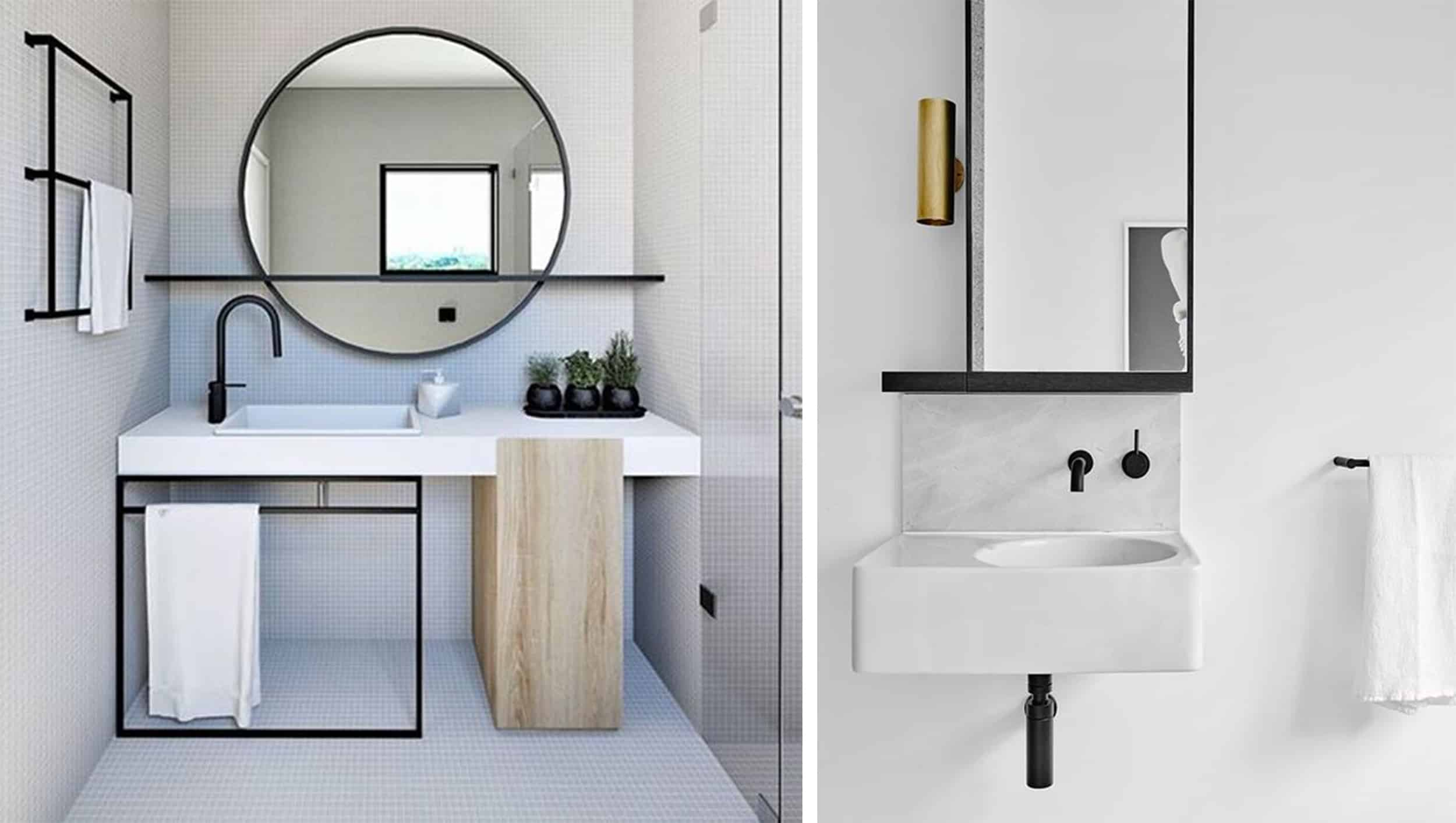 hamptons black and white bathrooms - darci hether new york