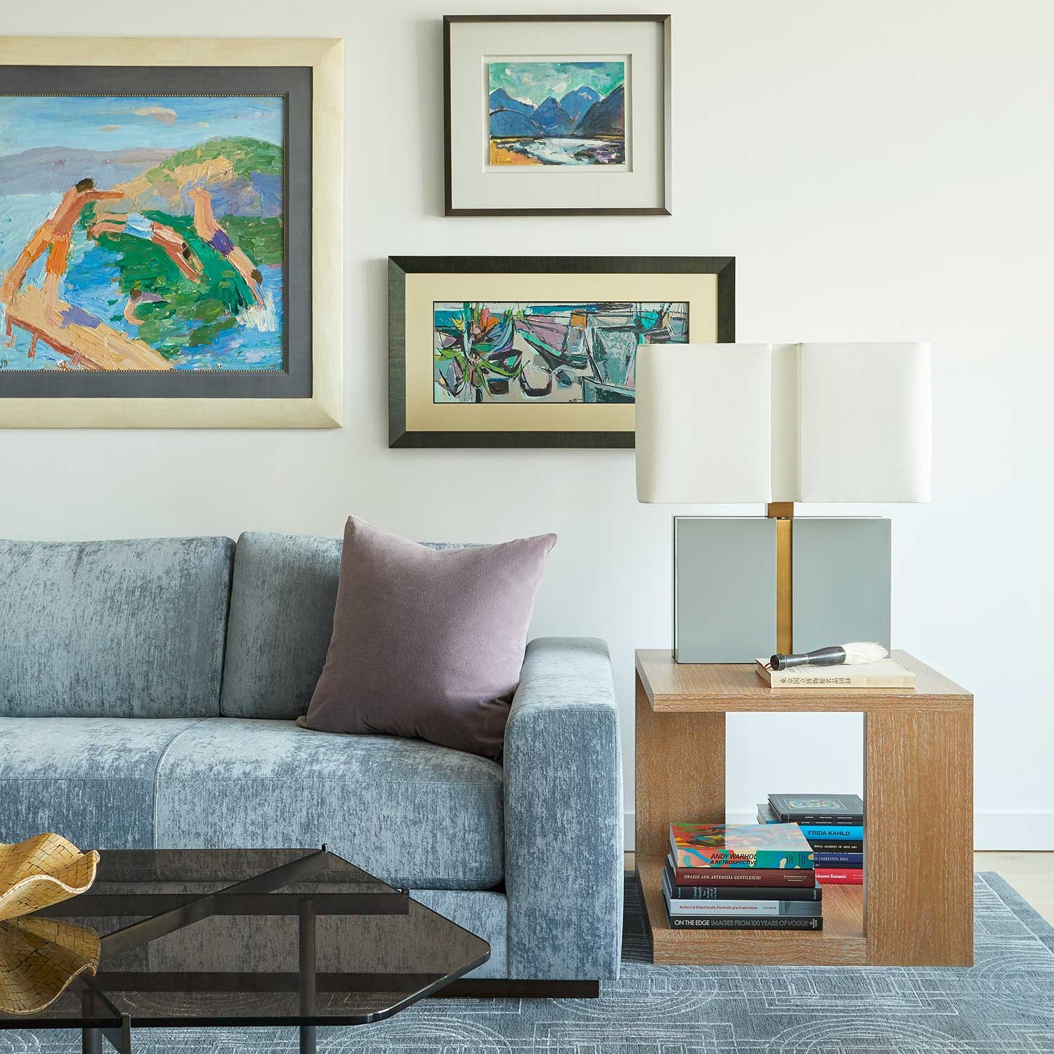 how to hang artwork for your own home gallery