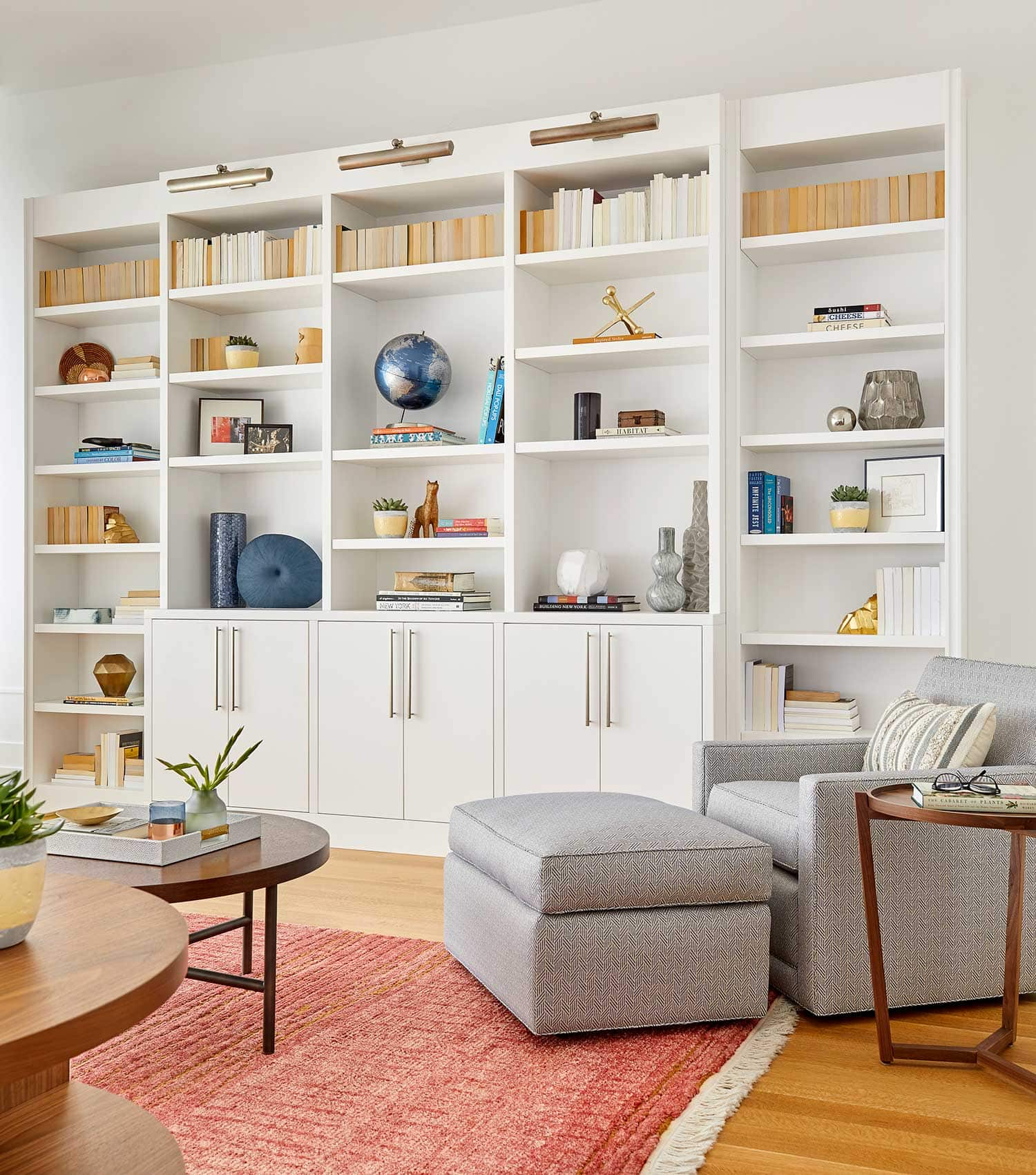 book case from midtown apartment designed by darci hether.