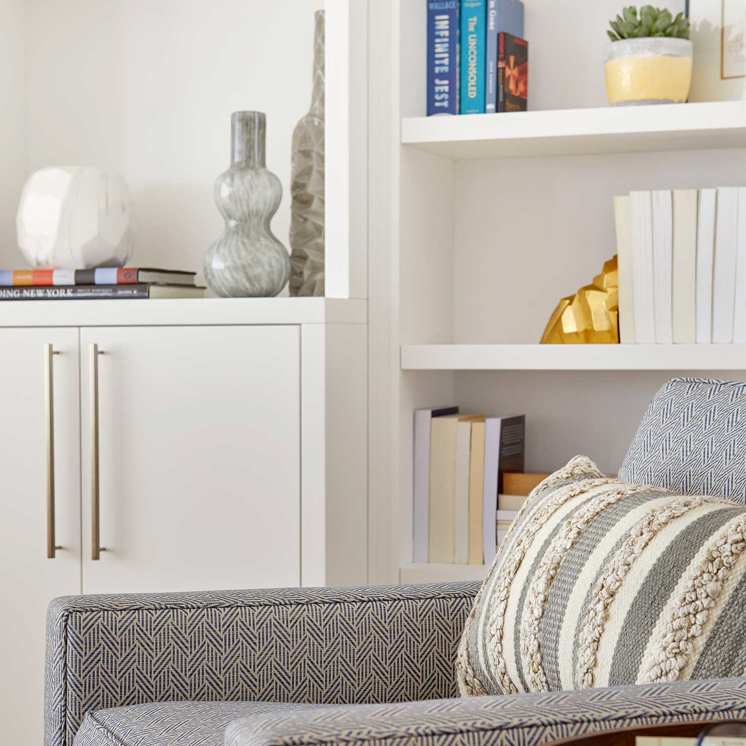 detailed look at how to style a bookcase