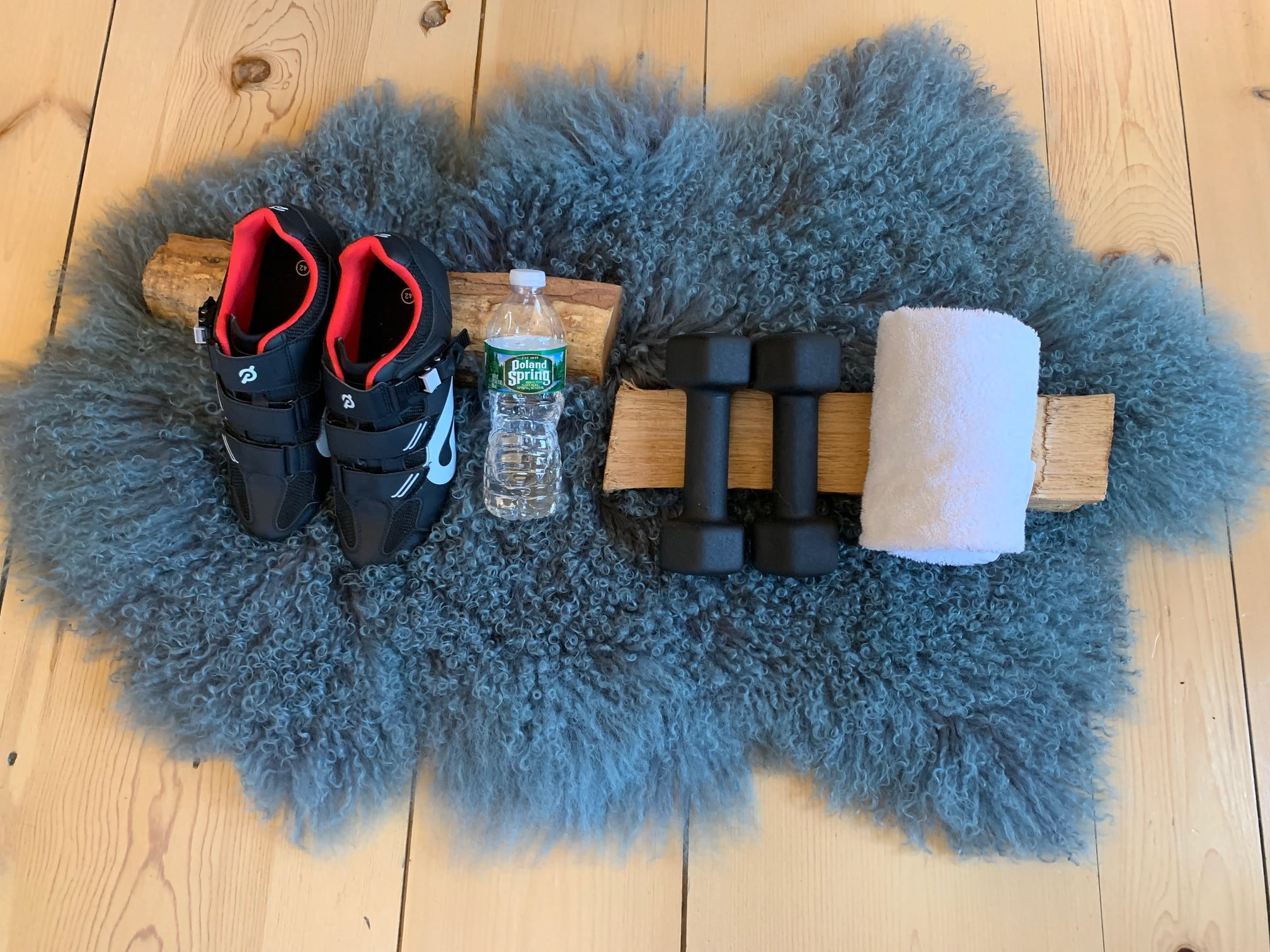 equipment in client's at home gym