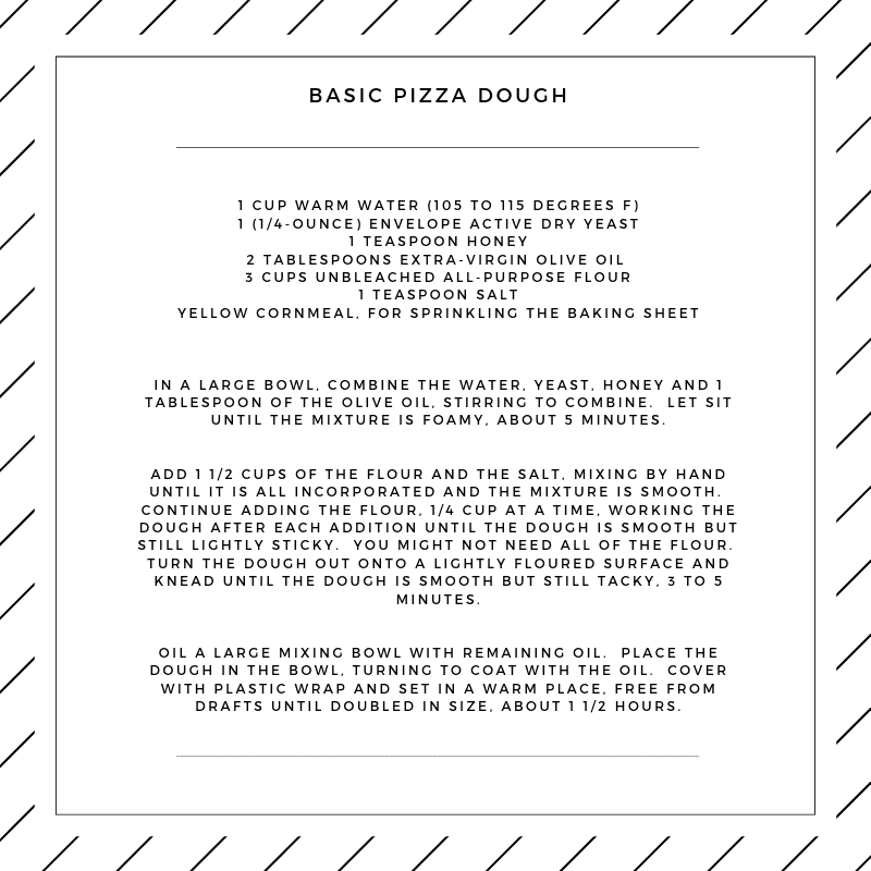 summer dinner party pizza dough recipe courtesy of darci hether