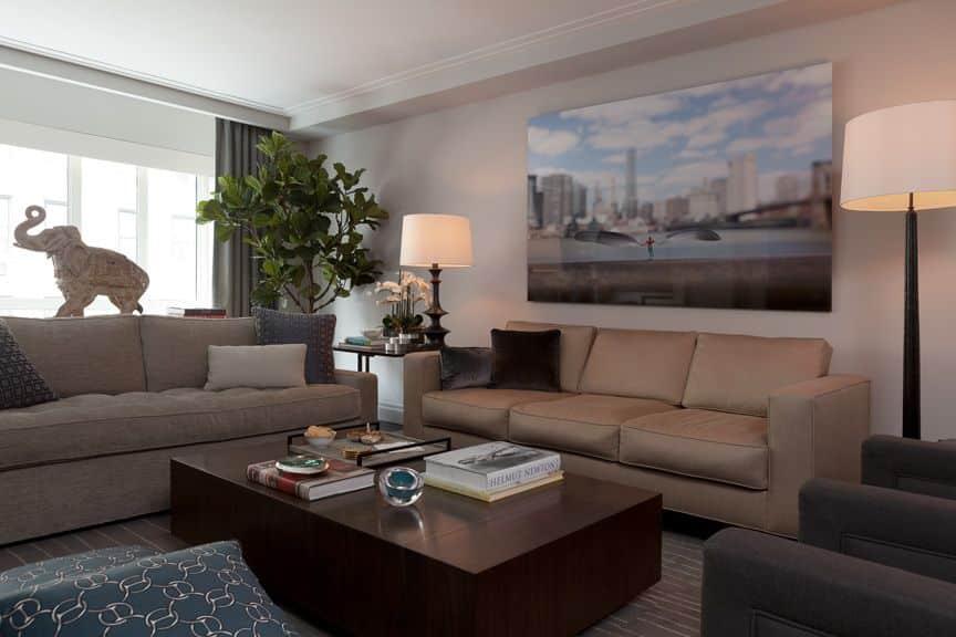 darci hether new york tribeca interior designer luxury holly hunt coffee table