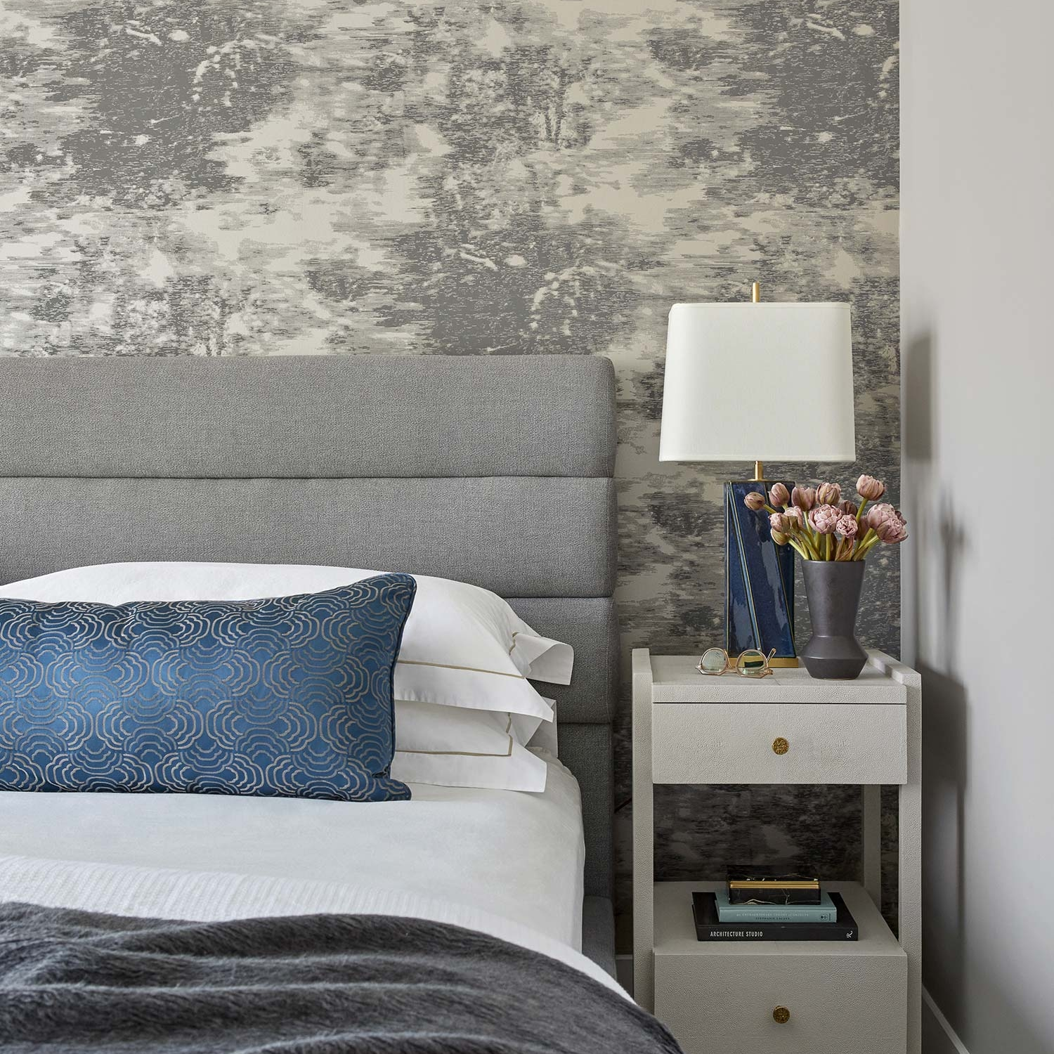 Master bedroom interior design in a New York apartment by Darci Hether